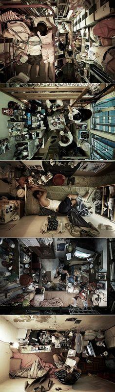 Hong Kong's cubicle flats  (heart-breaking!)
