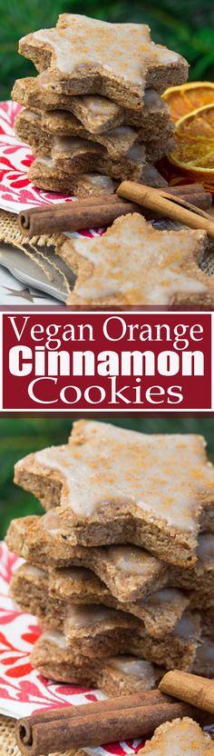 vegan orange cinnamon Christmas cookies  #OrgainHolidayGiveaway