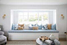 House 11 - Colour Me Hamptons Renovation Lounge Room Lounge Living Room Formal Lounge Room Patterns Blue Interiors Hamptons Textiles Transformation Hamptons Bedroom, Hamptons Living Room, Hamptons Decor, Die Hamptons, Hamptons Style Homes, Three Birds Renovations, House Renovations, California Bedroom, Lounge