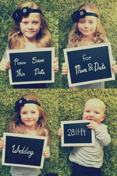 Save the date idea with kids :)