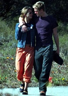 Jennifer Aniston and Brad Pitt....so sad you see so many pictures of her and Brad like this but barely any of her and Justin.