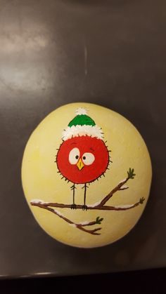 Fun and Easy DIY Christmas Crafts for Kids to Make – Painted Rocks Rock Painting Ideas Easy, Rock Painting Designs, Paint Designs, Pebble Painting, Pebble Art, Diy Painting, Stone Crafts, Rock Crafts, Arts And Crafts