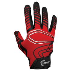 Cutters S250 Youth Rev Receiver Gloves - Red