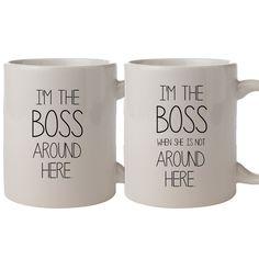 I'm The Boss - Ένα αστείο σετ με δύο κούπες για να δείξετε σε όλους ποιός είναι (πραγματικά) το αφεντικό μέσα στο σπίτι!!