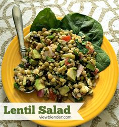 Healthy Lentil Salad - Packed with protein and flavor (scheduled via http://www.tailwindapp.com?utm_source=pinterest&utm_medium=twpin&utm_content=post845901&utm_campaign=scheduler_attribution)