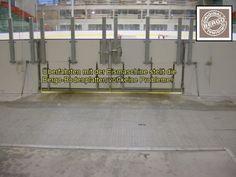 Durchfahrt der Eismaschine zur Eisfläche - kein Problem für den Multisport Sportboden