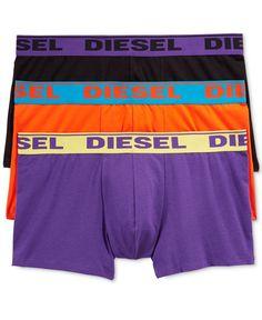 Diesel Men's Fresh & Bright Cotton Stretch Shawn Trunks 3 Pack