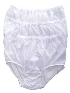 CLICK IMAGE TWICE FOR PRICING AND INFO :) #women #panties #lingerie #briefpanties #intimates #undergarment see more granny panties at http://zpanties.com/category/panties-categories/granny-panties/ - Lot 3 Piece Wholesale Granny Briefs Panties 100 % Nylon Knickers Lingerie White Size Xl « Z Panties