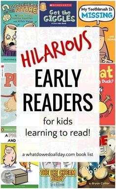 Very, very funny early readers. Books for beginning readers, reluctant readers and kids who just want a good funny book to make them laugh! You won't want to miss these. Click through to see the whole list. Not just Elephant & Piggie books. Reluctant Readers, New Readers, Struggling Readers, Early Readers, Funny Books For Kids, Books For Boys, Childrens Books, Teen Books, Good Books