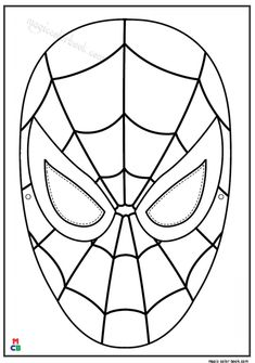 Spider man mask from cardboard templates nextinvitation spiderman coloring pages hero voltagebd Image collections