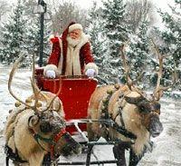 Babbo Natale con renne.  Esiste poi una nona renna, la cui leggenda nasce nel 1939 per opera di una catena di grandi magazzini americani, la Montgomery Ward.  Il suo nome è Rudolph e ha la peculiarità di possedere un naso rosso e luminoso, grazie al quale Babbo Natale decide di includerla tra le sue renne; infatti Rudolph riesce a fare breccia nelle tenebre della notte e a guidare la traiettoria della slitta.