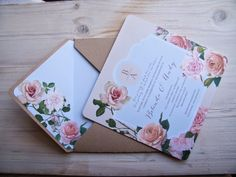 Rose Wedding, Wedding Stationery, Invitations, Gifts, Presents, Save The Date Invitations, Favors, Shower Invitation, Wedding Invitations