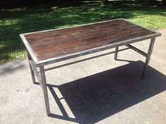 Check out this item in my Etsy shop https://www.etsy.com/listing/195359236/large-industrial-wood-top-desktable-with