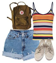 """""""Untitled #5693"""" by rachellouisewilliamson on Polyvore featuring Levi's, Glamorous and Superga"""