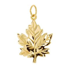 Large detailed maple leaf charm in yellow gold Charmed, Leaves, Jewels, Yellow, Earrings, Gold, Beautiful, Ear Rings, Stud Earrings