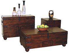 coffee tables, living rooms, rustic santa, accent tabl, trunks, rustic furnitur, live room, santa fe, living room furniture