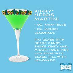 KINKY Nerds Martini #recipe #cocktail #KinkyLiqueur #martini