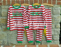 Kids Christmas Pajamas Family Christmas by RedElephantClothing ...