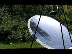 solar cooking: How to build a solar cooker from a satellite dish - YouTube