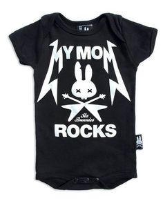 J/'aime ma maman et ses Tatouages Enfants Noir T Shirt Motard Punk Tattoo Alternative
