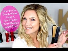Beach Waves Using a Flat Iron for Short/Medium Length Hair!! - YouTube