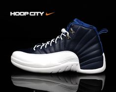 new arrival ca64c 27037 Air Jordan Retro 12 - Obsidian White-French Blue-University Blue Air Jordan