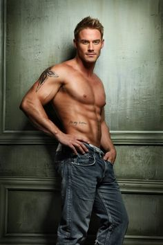 Jessie Pavelka is perfect in his red room of pain jeans. They are hanging on his hips pretty darn perfectly don't ya think? YIKES!