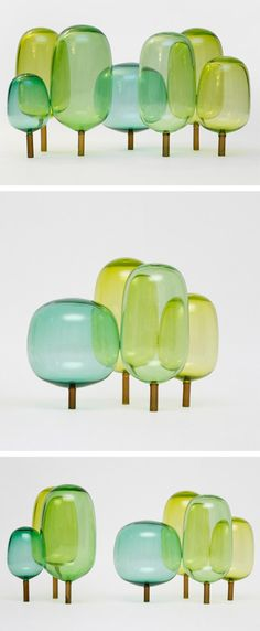 'The Woods' Glass Sculptures - StokkeAustad and Andreas Engesvik