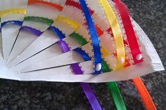 Ribbon crafts | Ribbon rainbow craft