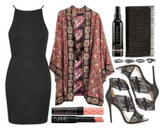 """""""street style"""" by sisaez ❤ liked on Polyvore featuring Topshop, Benefit, NARS Cosmetics, Jimmy Choo and BCBGMAXAZRIA"""