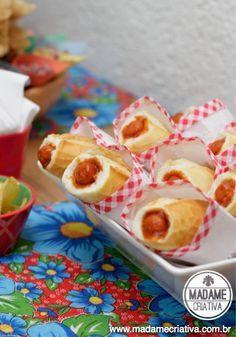 Mini Cachorro quente com molho à moda antiga - Mini Hot Dogs para Festa Junina ou para festa infantil