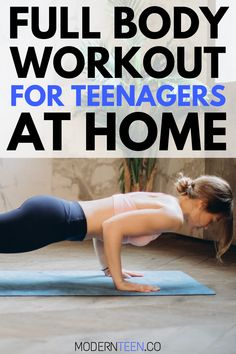 Exercise for teenagers is crucial to stay healthy and build muscle. Here& an easy full body workout for teenagers at home without any equipment Full Ab Workout, Full Body Workout At Home, Workout List, Workout Men, Boxing Workout, Workout Routines, Easy At Home Workouts, Workouts For Teens, Fun Workouts