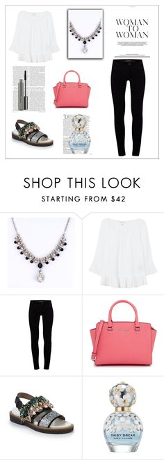 """""""Sin título #831"""" by lululafitte ❤ liked on Polyvore featuring Velvet, J Brand, MICHAEL Michael Kors, Marni, Balmain, Marc Jacobs and MAC Cosmetics"""