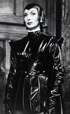 Devil Girl from Mars (1954) -- Patricia Laffan masters interplanetary travel onto to arrive in Scotland -- a place that has barely figured out how make hot water. I wouldn't be smiling either.