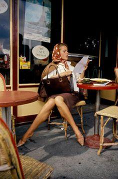 Jane Fonda at Café de Flore Paris, 1961, by Willy Rizzo