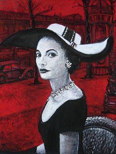 Señora..?, obra realizada con oleo y acrílicos sobre lienzo. Estudio de Paris en 1930.