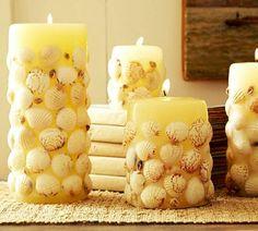свечи в ракушками