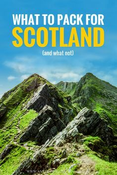 A detailed packinglist for your perfect trip to Scotland. What to pack for Scotland will answer all your question what you should bring and what not. Click for more