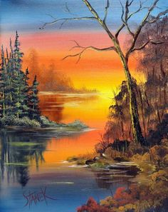 Beautiful landscapes - Lilly is Love Nature Paintings, Beautiful Paintings, Beautiful Landscapes, Landscape Paintings, Bob Ross Paintings, Acrylic Art, Nature Pictures, Watercolor Paintings, Nature Photography