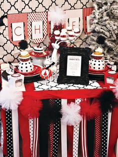 Pom Garland on Hostess with the Mostess. Christmas Mod Party styled by Southern Belle's Charm