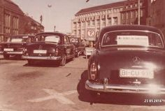 Taxis am HBF 1960