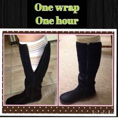 Wrap them calves just in time for boot season!! see what it's all about contact me today itsamandaswrapthing.itworks.com