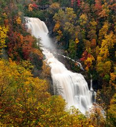 Whitewater Falls in western North Carolina. I live in such an amazing place. Beautiful Waterfalls, Beautiful Landscapes, Beautiful World, Beautiful Places, North Carolina Mountains, Autumn Scenery, Nature Photos, The Great Outdoors, Wonders Of The World