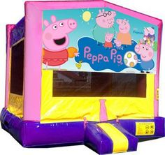 Image result for peppa pig bounce house
