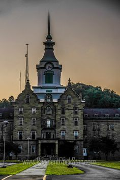 SALE!! 50% off!  20 x 30 inch mounted metallic ready to hang print. Trans Allegheny Lunatic Asylum West Virginia by SatanicCeramics on Etsy