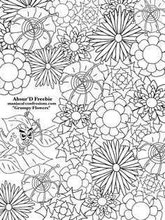 Absurd Maniacal Confessions Two Free Images To Color The AbsurD Carnival Carnage Coloring Book Comes In JUST COLORING Regular Bound Spiral Card