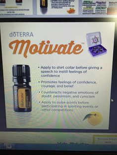 Motivate doTerra blend!!! Get this!!!