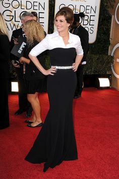 Julia Roberts golden globes 2014   Julia Roberts in Dolce & Gabbana