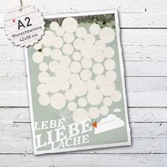 Gästebücher - A2! 50 WUNSCHBALLONS Hochzeit, Lebe Liebe Lache - ein Designerstück von Eine-der-Guten-Illustration bei DaWanda