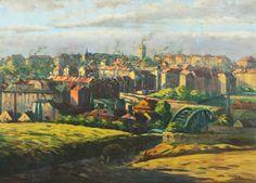Jaroslav Šimůnek - Pohled od Bohdalce na Vršovice (po roce 1910)